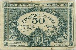 50 Centimes MONACO  1920 P.03a B