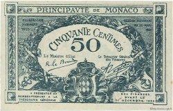 50 Centimes MONACO  1920 P.03a SPL