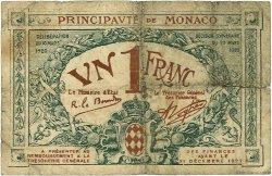 1 Franc MONACO  1920 P.05 pr.B
