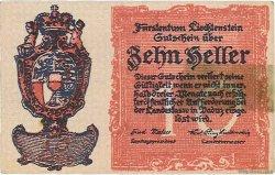 10 Heller LIECHTENSTEIN  1920 P.01 SUP