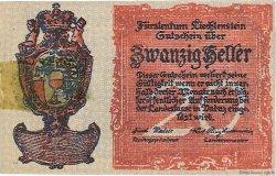 20 Heller LIECHTENSTEIN  1920 P.02 SUP