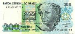 200 Cruzeiros sur 200 Cruzados Novos BRÉSIL  1991 P.225b NEUF