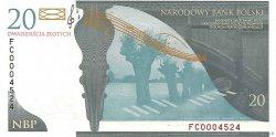 20 Zlotych POLOGNE  2009 P.181 NEUF