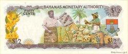 50 Cents BAHAMAS  1968 P.26a SPL