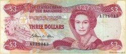 3 Dollars BAHAMAS  1984 P.44a TB