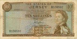 10 Shillings JERSEY  1963 P.07a TB