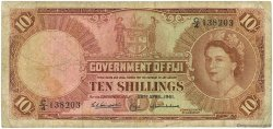 10 Shillings FIDJI  1961 P.052b B