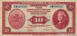 10 Gulden INDES NEERLANDAISES  1943 P.114a TTB+