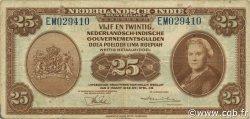 25 Gulden INDES NEERLANDAISES  1943 P.115a TB