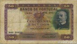 50 Escudos PORTUGAL  1944 P.154 TB