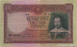 500 Escudos PORTUGAL  1952 P.158 pr.TTB