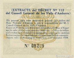 1 Pesseta ANDORRE  1936 P.06 SPL