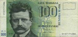 100 Markkaa FINLANDE  1991 P.119 TB