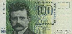 100 Markkaa FINLANDE  1991 P.119 TTB