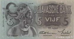 5 Gulden INDES NEERLANDAISES  1939 P.078c TTB+
