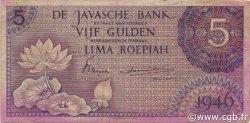 5 Gulden INDES NEERLANDAISES  1946 P.087 TTB