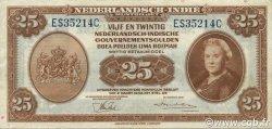 25 Gulden INDES NEERLANDAISES  1943 P.115a TTB