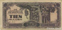 10 Gulden INDES NEERLANDAISES  1942 P.125c TB
