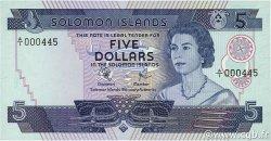 5 Dollars ÎLES SALOMON  1977 P.06a NEUF