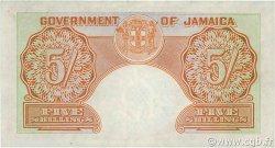 5 Shillings JAMAÏQUE  1953 P.37b SUP