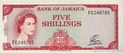 5 Shillings JAMAÏQUE  1964 P.51Ab SUP