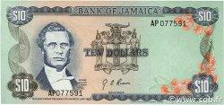10 Dollars JAMAÏQUE  1976 P.62 SPL