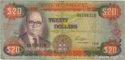20 Dollars JAMAÏQUE  1981 P.68b B