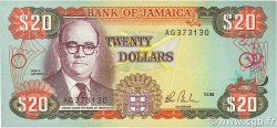20 Dollars JAMAÏQUE  1985 P.72a NEUF