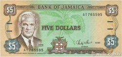 5 Dollars JAMAÏQUE  1987 P.70b NEUF