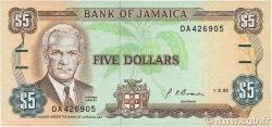 5 Dollars JAMAÏQUE  1992 P.70d SPL