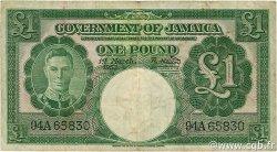 1 Pound JAMAÏQUE  1953 P.41b TB