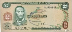 2 Dollars JAMAÏQUE  1970 P.55a SUP