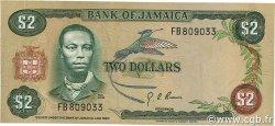 2 Dollars JAMAÏQUE  1976 P.60a TTB
