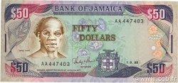 50 Dollars JAMAÏQUE  1988 P.73a TTB