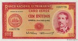 100 Escudos CAP VERT  1958 P.49a NEUF