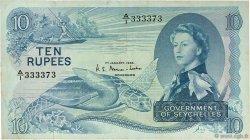 10 Rupees SEYCHELLES  1968 P.15a TTB