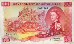 100 Rupees SEYCHELLES  1969 P.18b TB+