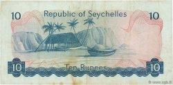 10 Rupees SEYCHELLES  1976 P.19a TB+