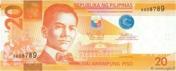 20 Piso PHILIPPINES  2010 P.206a NEUF