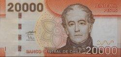 20000 Pesos CHILI  2009 P.165 NEUF