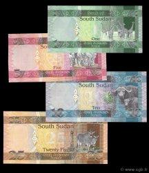 Lot de 4 billets Bank of Sud Soudan SOUDAN DU SUD  2011 P.New NEUF
