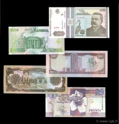 Lot de 5 billets Monde LOTS  1991 P.06-100-37-44-36 NEUF