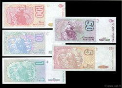 Lot de 5 billets ARGENTINE  1985 P.LOT NEUF