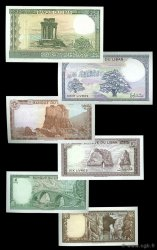 Lot de 6 billets LIBAN  1978 P.LOT NEUF