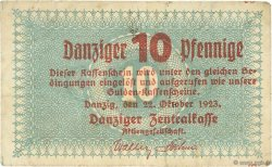 10 Pfennige DANTZIG  1923 P.35b TB