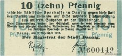 10 Pfennig DANTZIG  1916 P.05 SUP