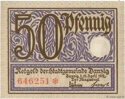 50 Pfennig DANTZIG  1919 P.11 NEUF