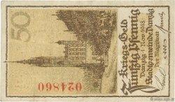 50 Pfennig DANTZIG  1918 P.09 TTB