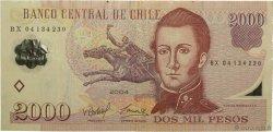2000 Pesos CHILI  2004 P.160a TTB