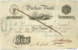 5 Pounds AFRIQUE DU SUD  1862 PS.442a TTB+